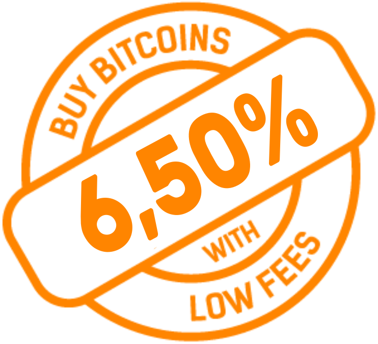 Buy bitcoins with low fees